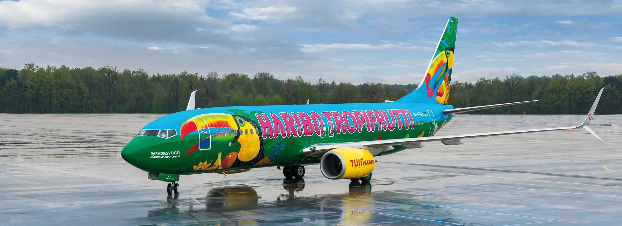 Flugzeugwerbung - Sonderlackierung