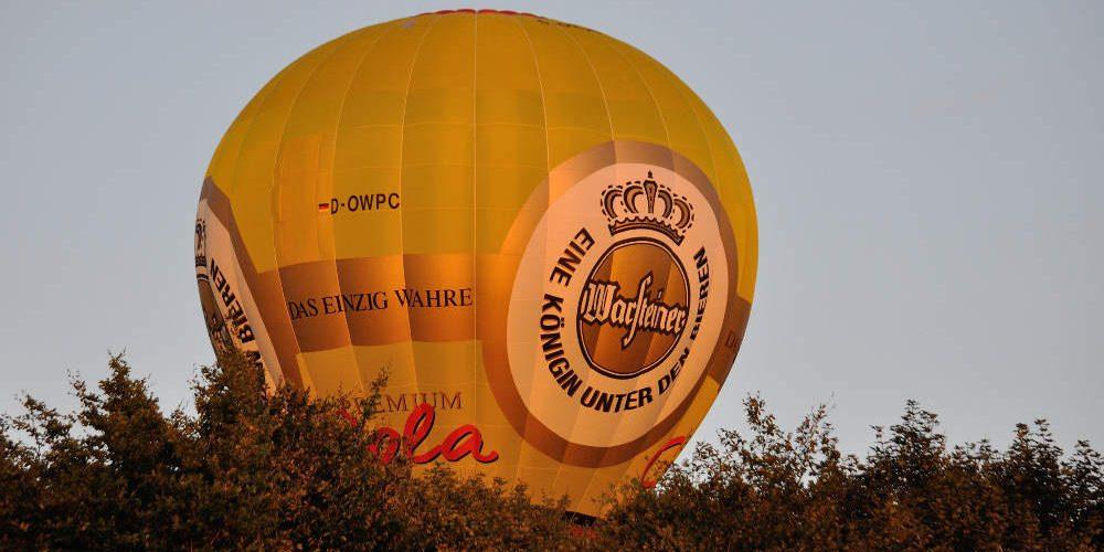 heißluftballon werbung