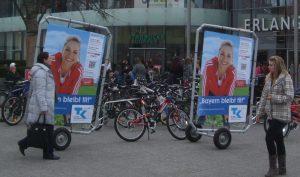 Werbefahrräder von inovisco BikeBoards Classic
