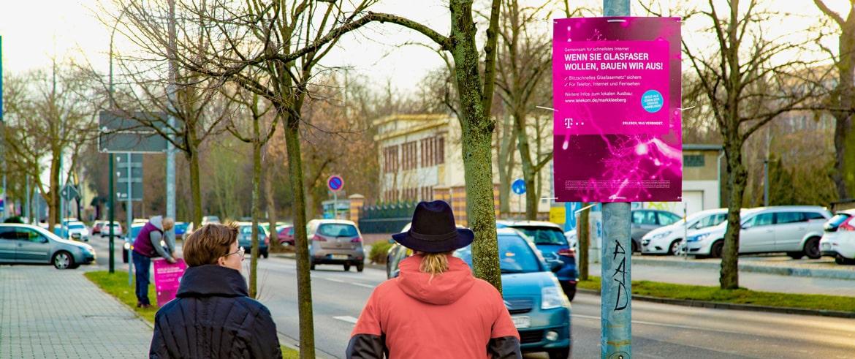 Hohlkammerplakate Telekom