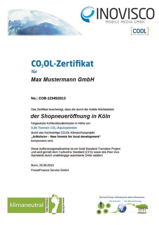 Umwelt-Zertifikat