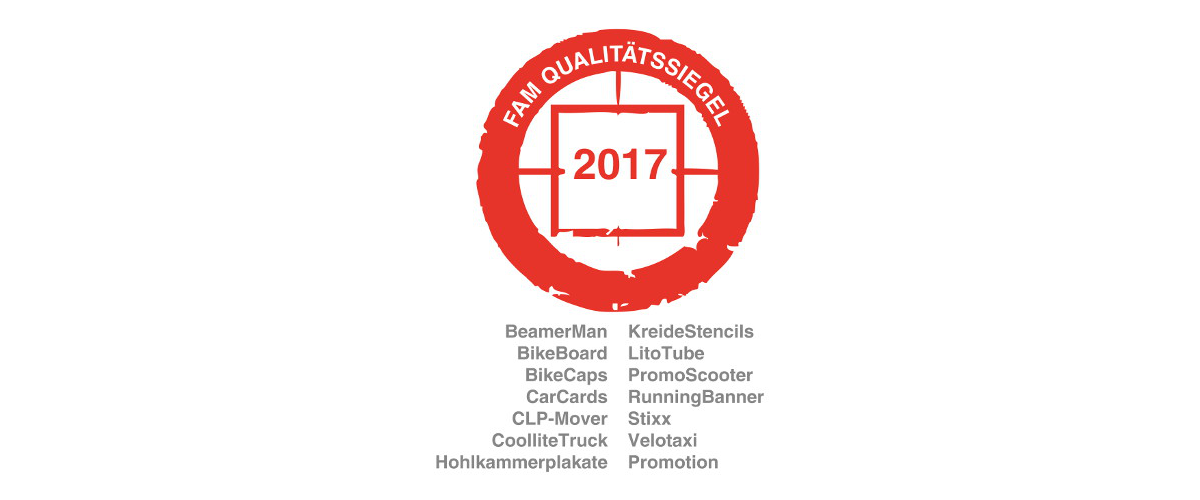 FAM-Qualitätssiegel 2017 Fachverband Ambientmedia - inovisco Mobile Media AG