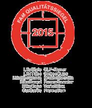 FAM Qualitätssiegel 2015 - inovisco