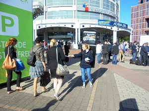 Messemarketing - Promotion vor der Messe Frankfurt