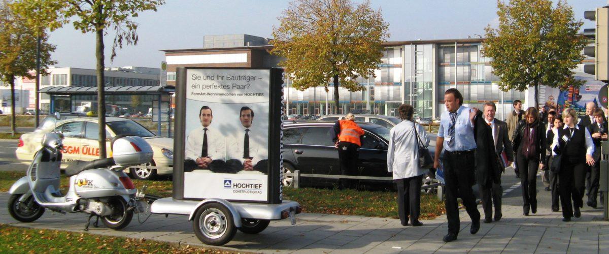 Messemarketing mit einem Werberoller
