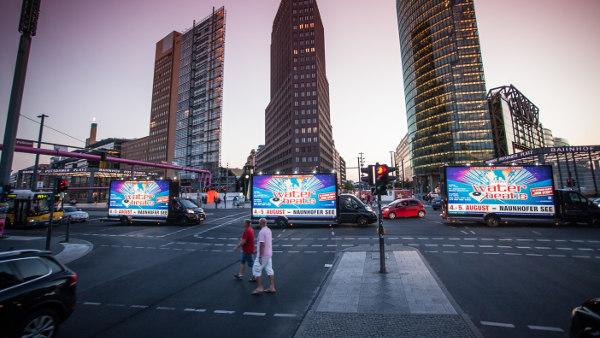 Fahrende Werbetrucks - Blogbeitrag über mobile Werbeflächen