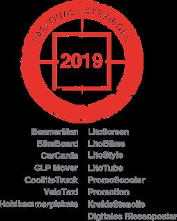 FAM Qualitätssiegel Siegel 2019 für Ambient Werbemedien der Ambient Media Agentur inovisco mobile Media GmbH