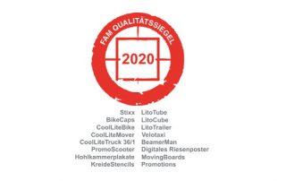 FAM Qualitätssiegel 2020 - inovisco Mobile Media GmbH Qualitäts-Zertifikat