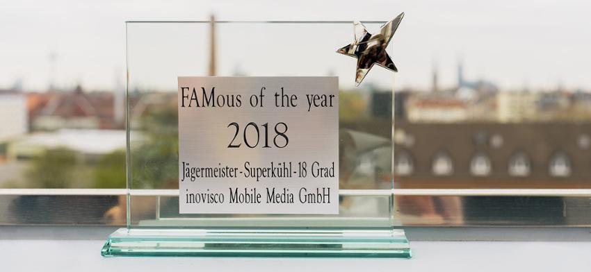 FAMous Award 2018 Gewinner Jägermeister Eisplakate
