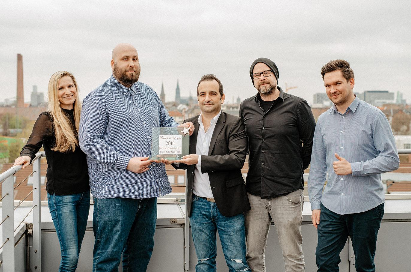 FAMous of the year 2018 Award-Verleihung an FAM Mitglied inovisco