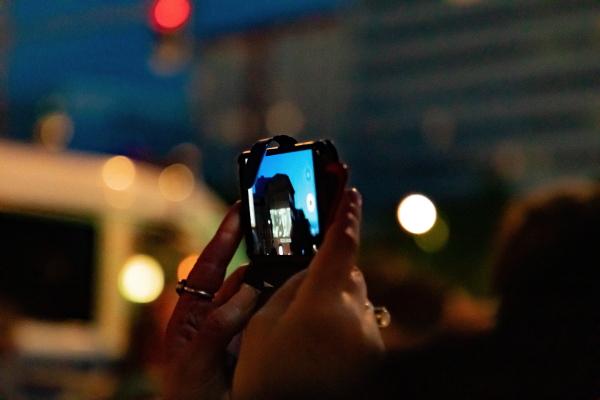 Handyvideo eines Fans - Projektion Rammstein