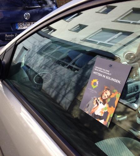 Guerilla Marketing - CarCard - Saugnapf