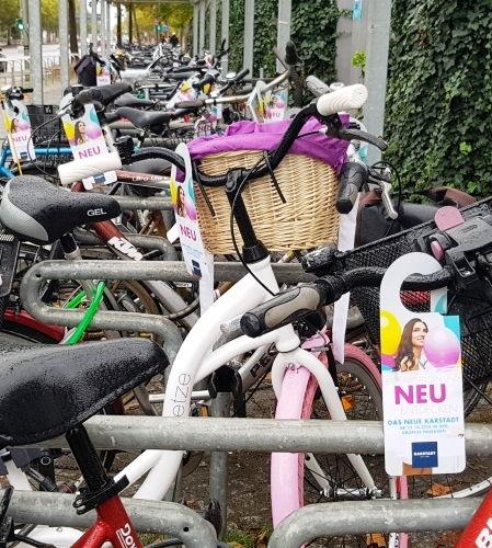 Flyer am Bike zur Neueröffnung
