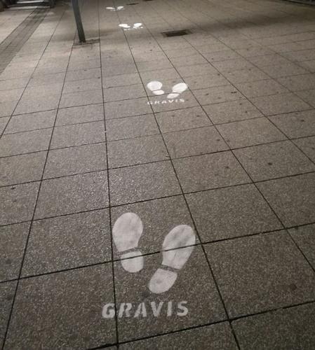 Guerilla Marekting - KreideStencils - Gravis