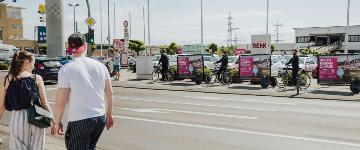 Neue CoolLiteBikes - Werbefahrräder mit Werbeanhänger