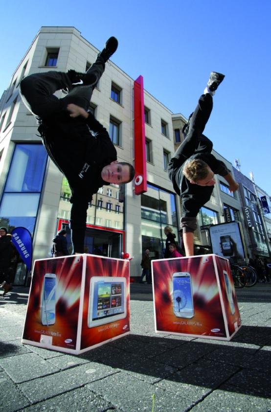 Erfolgreiche Werbekampagne in der Fußgänger