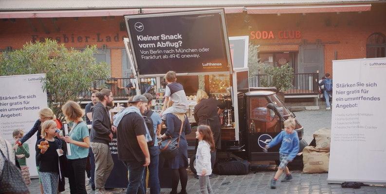 Guerilla Marketing - Kaffeemobil - Lufthansa