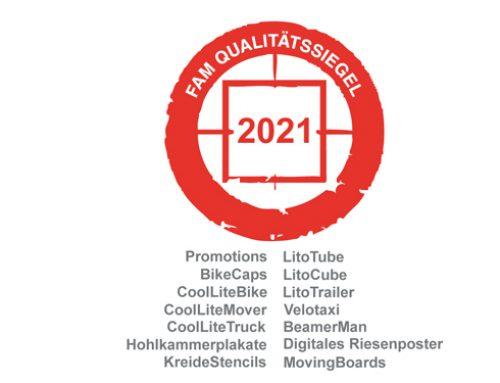 FAM Qualitätssiegel: inovisco erhält Zertifikat 2021
