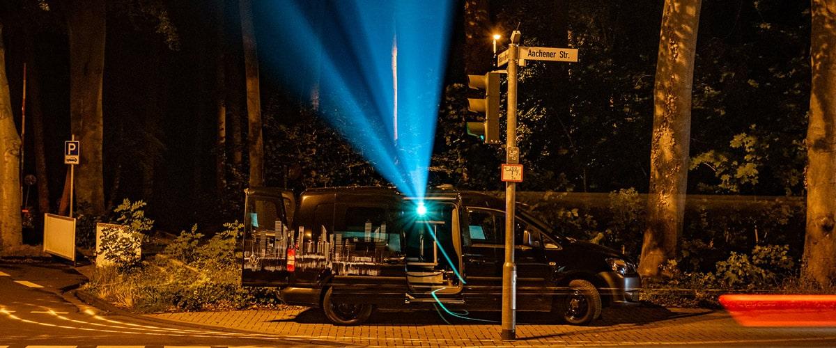 CoolLiteMobil Projektionsfahrzeug