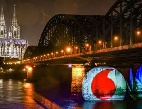 Spektakulärer Guerilla-Stunt zur Fusion von Vodafone und Unitymedia