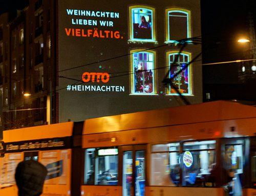 Digitale Riesenposter: #Heimnachten als perfekte Umsetzung in der dunklen Jahreszeit