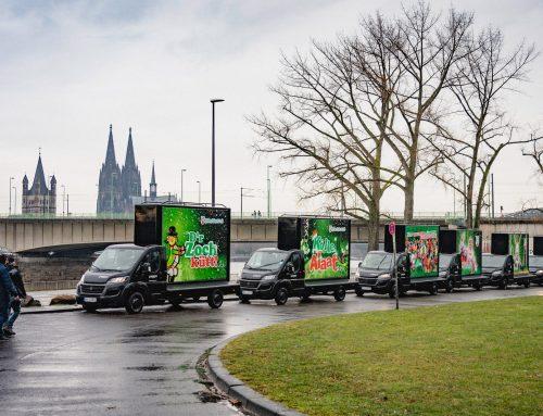 Werbe LKW am Rosenmontag: D'r Zoch kütt doch