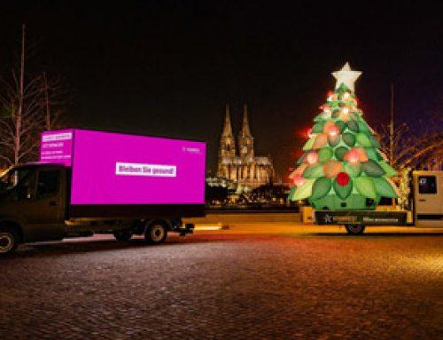 Werbe-LKW zu Weihnachten: Die Weihnachtstour von VIVAWEST