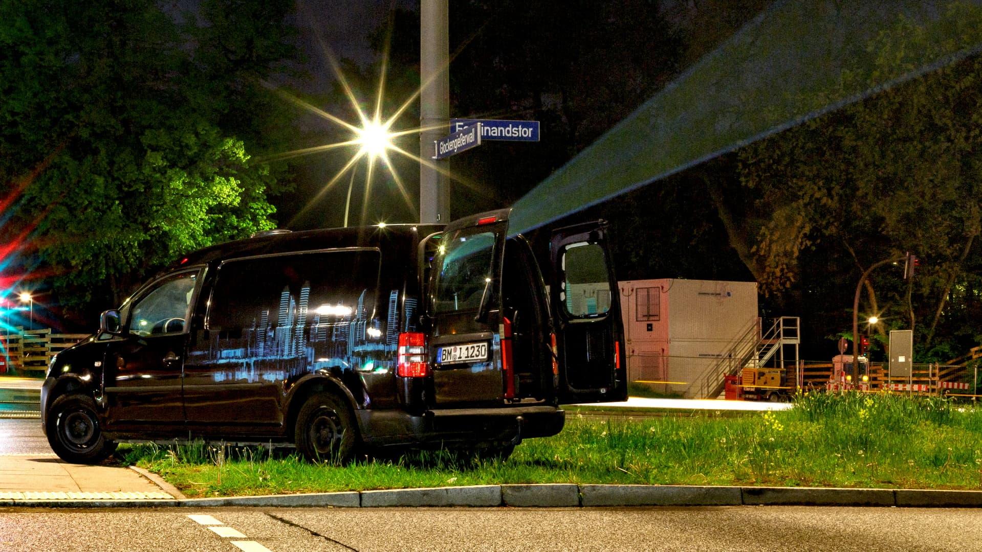 digitales Riesenposter Udo Lindenberg Projektionsfahrzeug