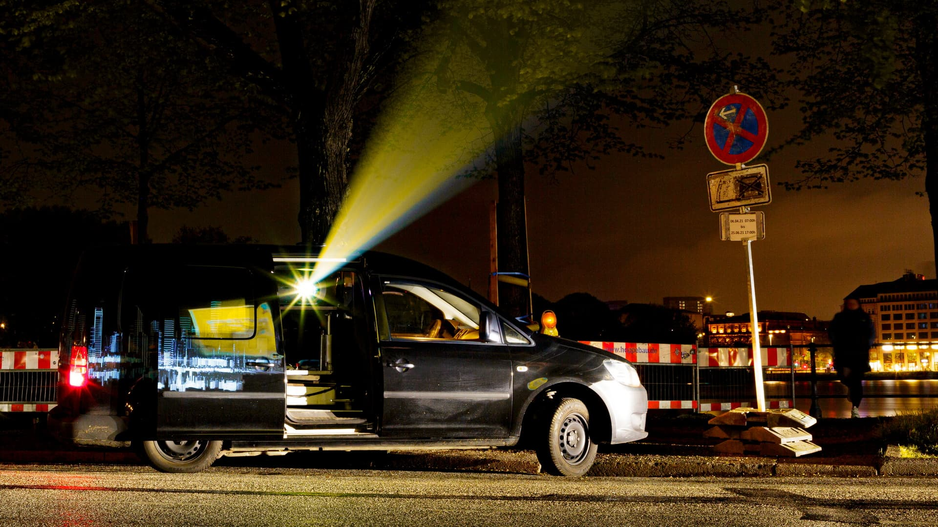 Digitales Riesenposter Udo Lindenberg Projektionsfahrzeug 2